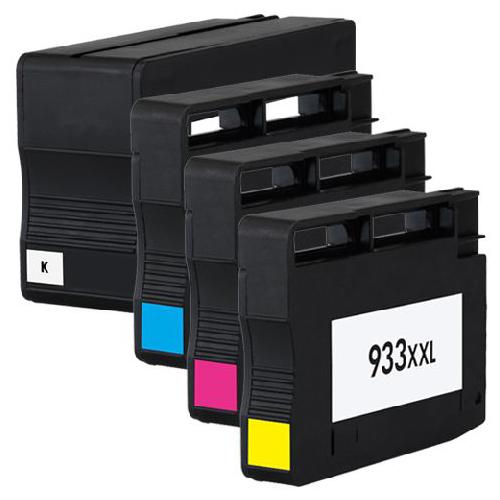 4-Druckerpatronen-fuer-HP-932-XL-933-XL-Officejet-6600-E-All-In-One-6700-Premium
